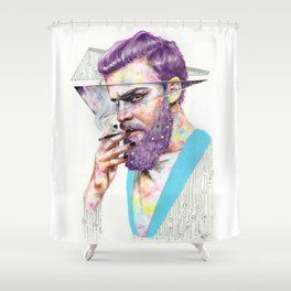 Clown on the Outside Shower Curtain