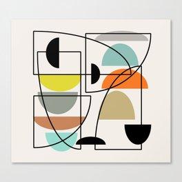 "Mid Century Modern ""Bowls"" Canvas Print"