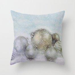 Romantic Christmas Throw Pillow