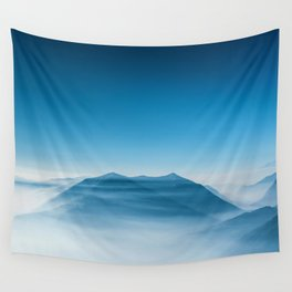Blue Mountains (Color) Wall Tapestry