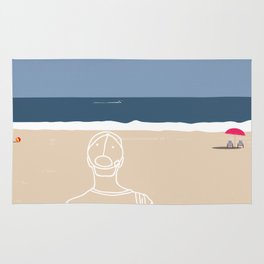 Going to the beach Rug