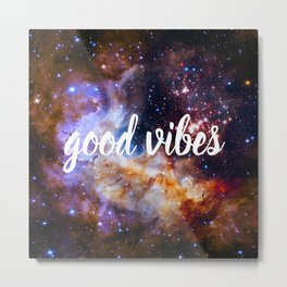Good Vibes Hubble Space Photo Carina Star Cluster Metal Print