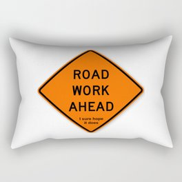 Road Work Ahead Meme Rectangular Pillow