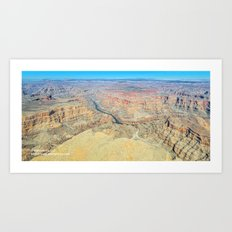 Grand Canyon West Aerial Panorama Art Print