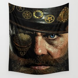 'Steampunk Gangster' Wall Tapestry