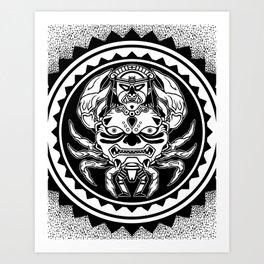 THE CRAB GOD (MOCHICA) Art Print