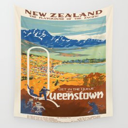 Vintage poster - New Zealand Wall Tapestry