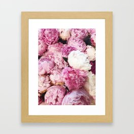PEONIES FOR DAYS Framed Art Print