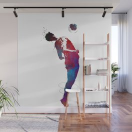 Football player sport art #football Wall Mural