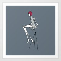 Tall Stool Art Print