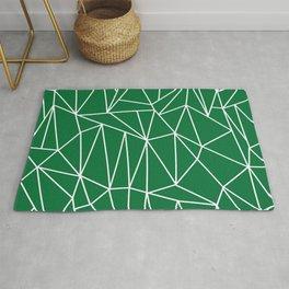 Geometric Cobweb (White & Olive Pattern) Rug