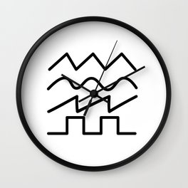 Electronics signals sine wave Wall Clock