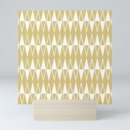 Mid Century Modern Diamond Pattern Gold 234 Mini Art Print