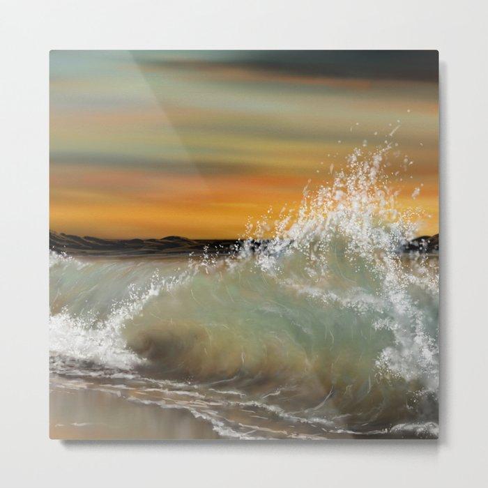 Sea Waves 2 Metal Print