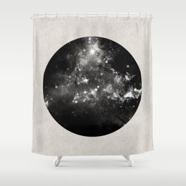 God's Window - Black And White Space Painting Shower Curtain