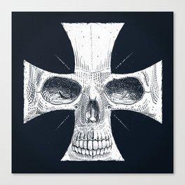 skull and cross Canvas Print