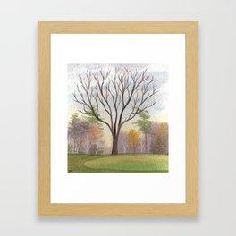 18th hole fairway, Briars Nov 3rd Framed Art Print