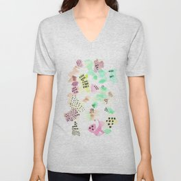 170323 Magical Unfolding 11  |Modern Watercolor Art | Abstract Watercolors Unisex V-Neck
