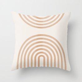 Rainbow lines Throw Pillow