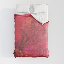 Original Textured Painting Orange and Red Comforters