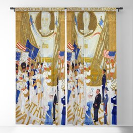 Florine Stettheimer Cathedrals of Wall Street Blackout Curtain