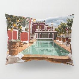 Pool at Le Sirenuse Hotel, Positano, Italy Pillow Sham