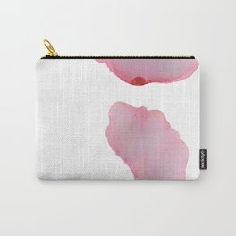 Pink Petals Abstract Carry-All Pouch