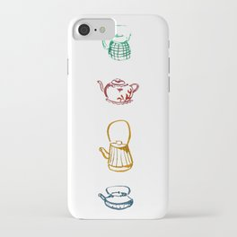 Tea Pots Colores Lines iPhone Case