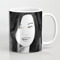 kitsune Mugs featuring Kitsune by Nikki Homicide
