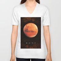mars V-neck T-shirts featuring MARS by Alexander Pohl