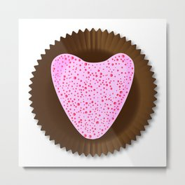 Chocolate Box Heart Metal Print