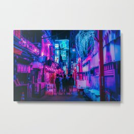 Candy Floss Neon Metal Print