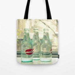 rainy day ~ vintage soda bottles Tote Bag