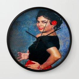 Dorothy Dandridge Ruby Sparkle Wall Clock