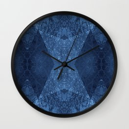 P19-CB2-BLUE ABSTRACT PATTERN Wall Clock