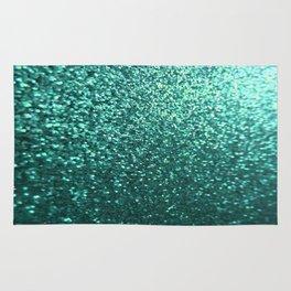 Teal Aqua Glitter Sparkle Rug
