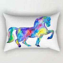 Horse, rainbow Rectangular Pillow