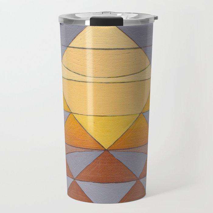 Pyramid Sun Mauve Purple Travel Mug