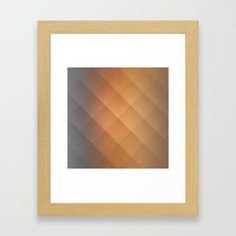 Brown Squares Framed Art Print