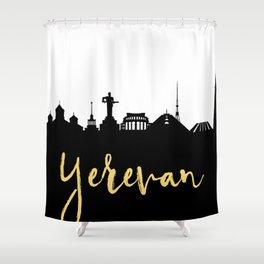 YEREVAN ARMENIA DESIGNER SILHOUETTE SKYLINE ART Shower Curtain