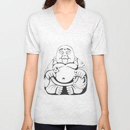 Chubby Buddha Unisex V-Neck