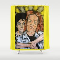 mask Shower Curtains featuring Mask  by Portraits on the Periphery