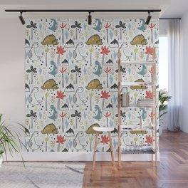 Dinosaurs Animals Prints patterns Wall Mural