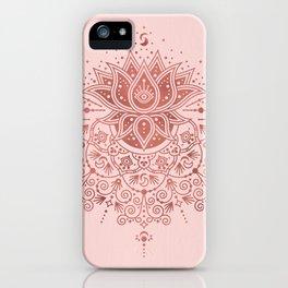 Sacred Lotus Mandala – Rose Gold & Blush Palette iPhone Case