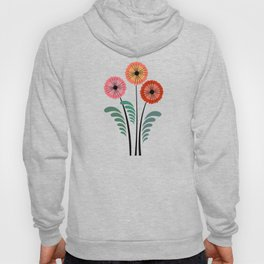Retro flowers Hoody