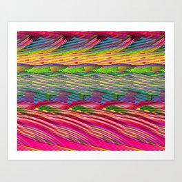 Rainbow Waves  #society6 #decor #buyart Art Print
