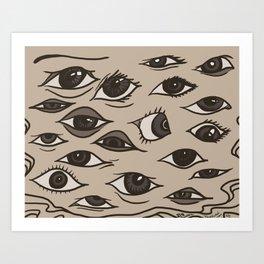 Bill Eyes Art Art Print
