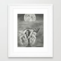cancer Framed Art Prints featuring Cancer by Jessica Ward