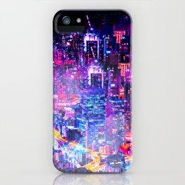 Cyberpunk City iPhone Case