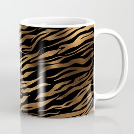 Gold and black metal tiger skin Coffee Mug